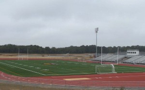 Athletic Field, Bleachers, lighting Work